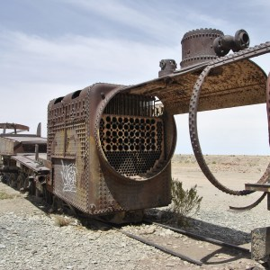 Cimetiere de locomotives, Uyuni, Bolivie