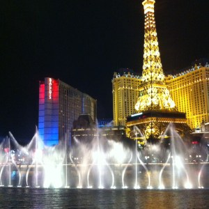The Bellagio fountains, Las Vegas, Nevada, USA