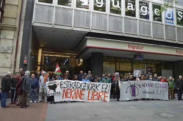 Estradizioaren kontrako protesta egin zuten hilaren hasieran. /