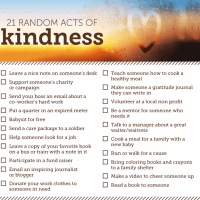 21 Random Acts of Kindness