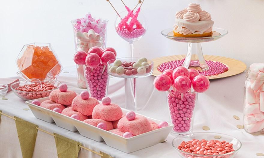 DIY wedding candy buffet
