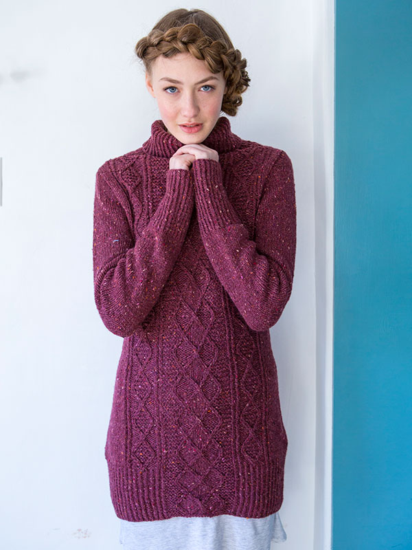 Red Clover sweater knitting pattern from Berroco