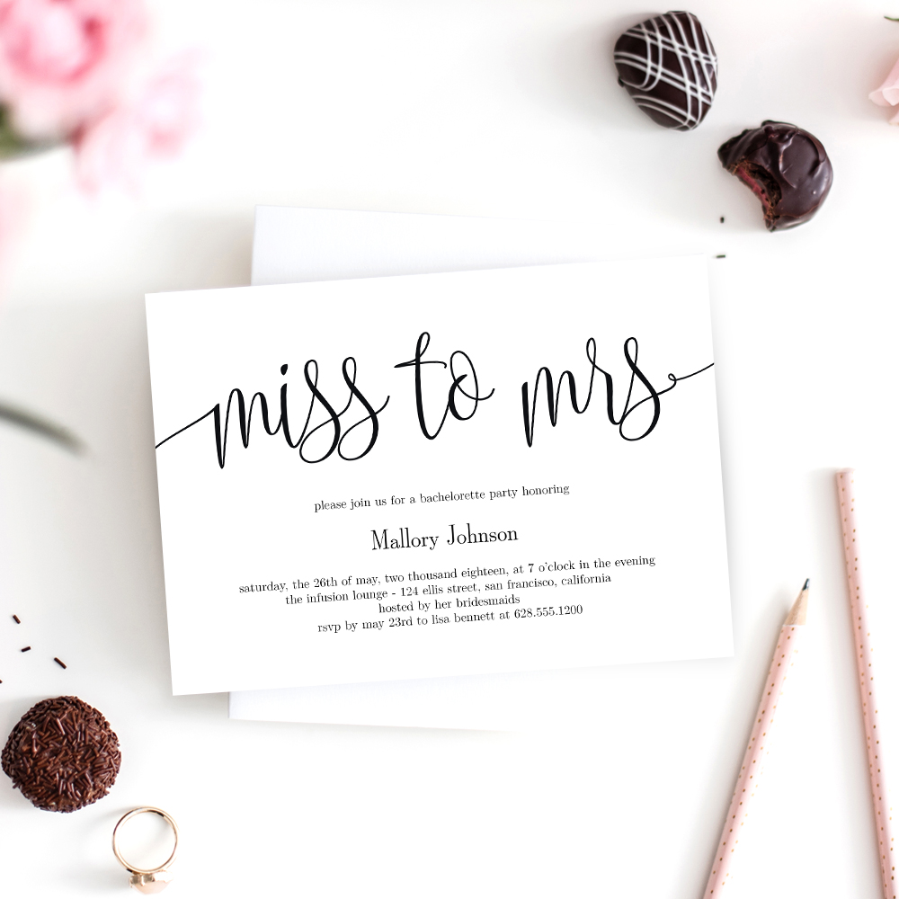 Miss To Mrs Bridal Shower Invitation LCC Berry Berry Sweet