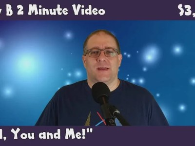 Andy B 2 Minute Video Vlog, God, You and Me!, S3, E19