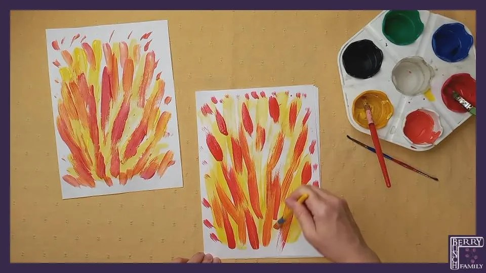 Art Time, Making, Fiery Painting