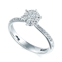 Berry's 18ct White Gold Diamond Set Solitaire Engagement Ring