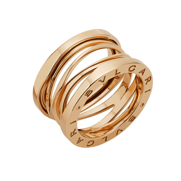 Bvlgari .zero1 Zaha Hadid 18ct Pink Gold Four Band Ring