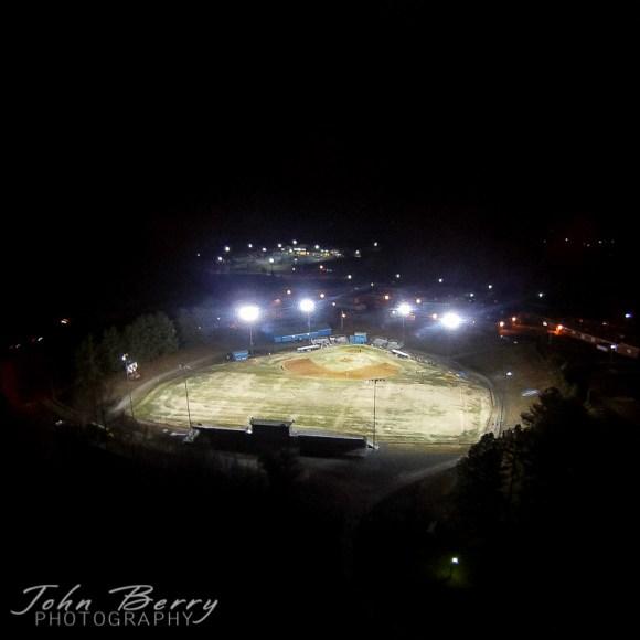 March 24, 2014.   Drone, baseball field