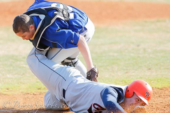 March 25, 2014.   MCHS JV Baseball vs Orange.  Madison loses to Orange 8-5.