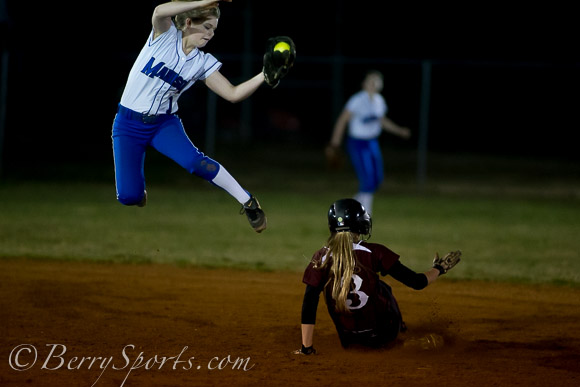 April 03, 2014.   MCHS Varsity Softball vs Luray.  Luray defeats Madison 2-1.