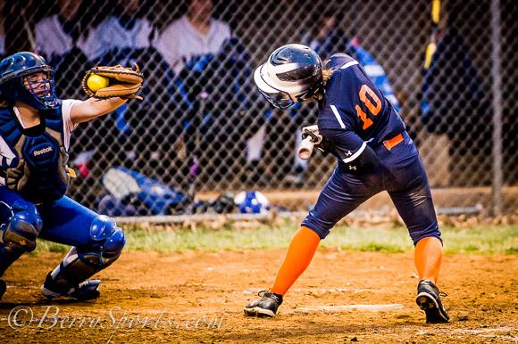April 04, 2014.   MCHS Varsity Softball vs Orange.  Madison wins 3-1.