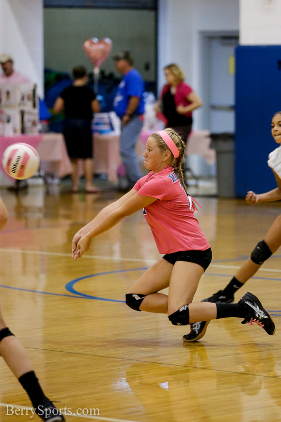 October 06, 2014.   MCHS JV Volleyball vs Luray.  Madison loses to Luray 2-0.