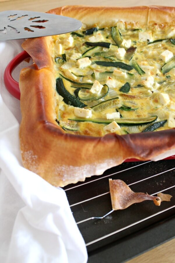 Zucchini & Feta Quiche with Phyllo Pastry | www.berrysweetlife.com