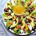 Pecan Cranberry & Avocado Salad with Orange Dressing