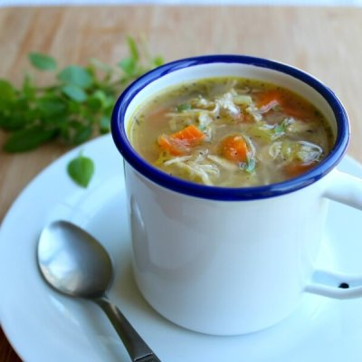 Healthy Homemade Celery Carrot Chicken Soup