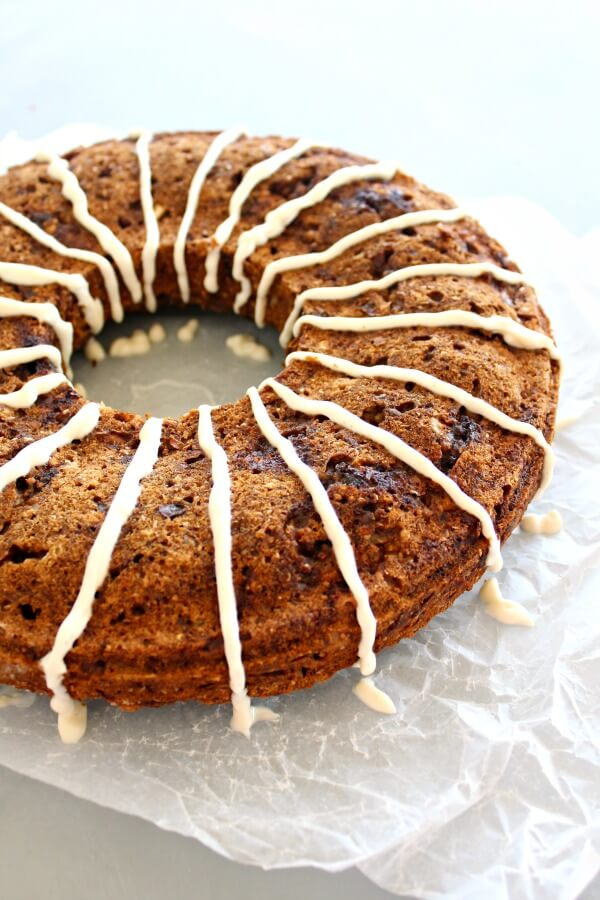 Wholewheat Pecan Date Chai-Tea Ring. A healthy, sugar free, spicy & moist tea ring bread that is sweet & nutty. Everyone will adore this recipe!   berrysweetlife.com