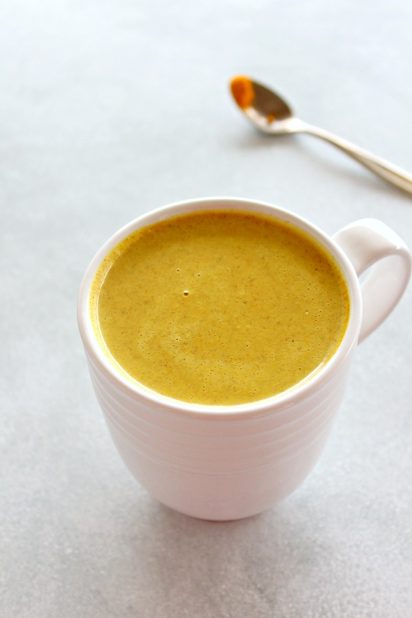 Golden Milk Turmeric Ginger Latte. A healthy, tasty latte with many vitamins, minerals, antioxidants and anti-inflammatory properties. It's slightly sweet, spicy, thick and comforting!   berrysweetlife.com