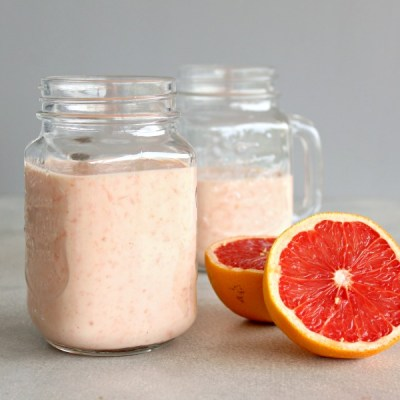 Immune Boosting Grapefruit Banana Smoothie