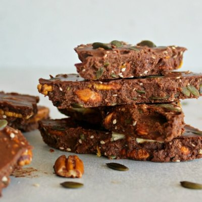 Super Food Chocolate Orange Pecan Bark