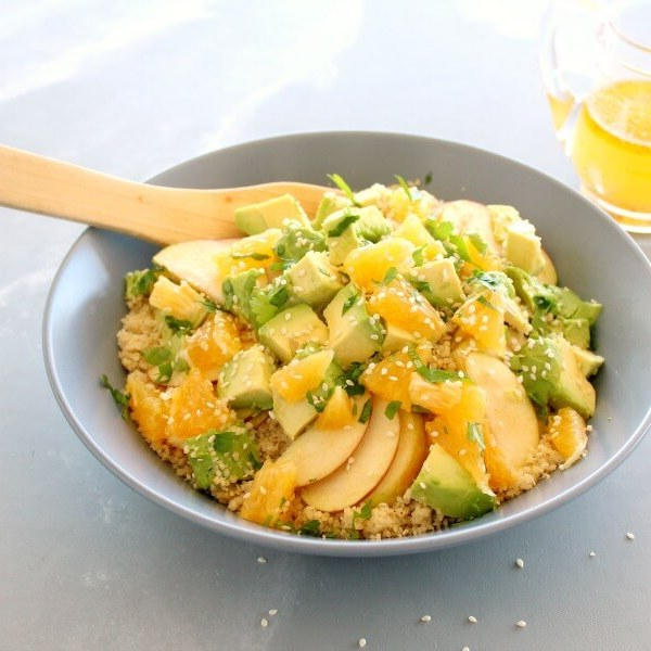 Zingy Avocado Citrus Couscous Salad