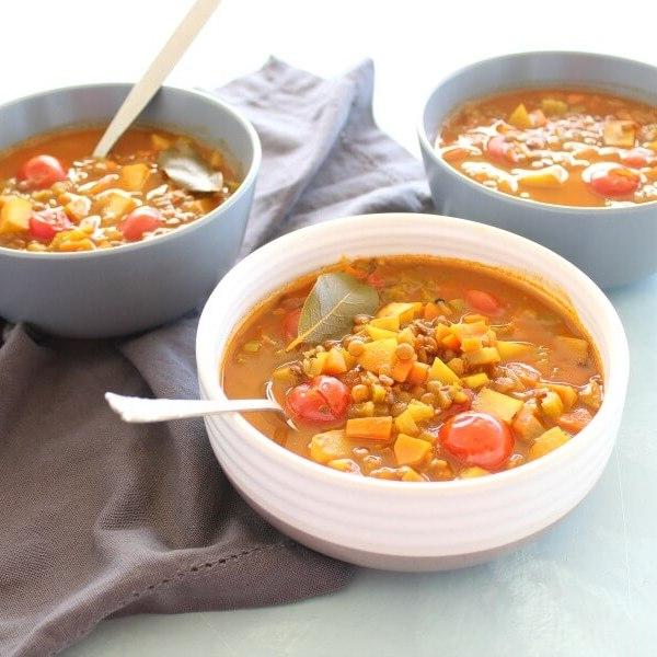 Amazing Indian Vegetable Lentil Soup