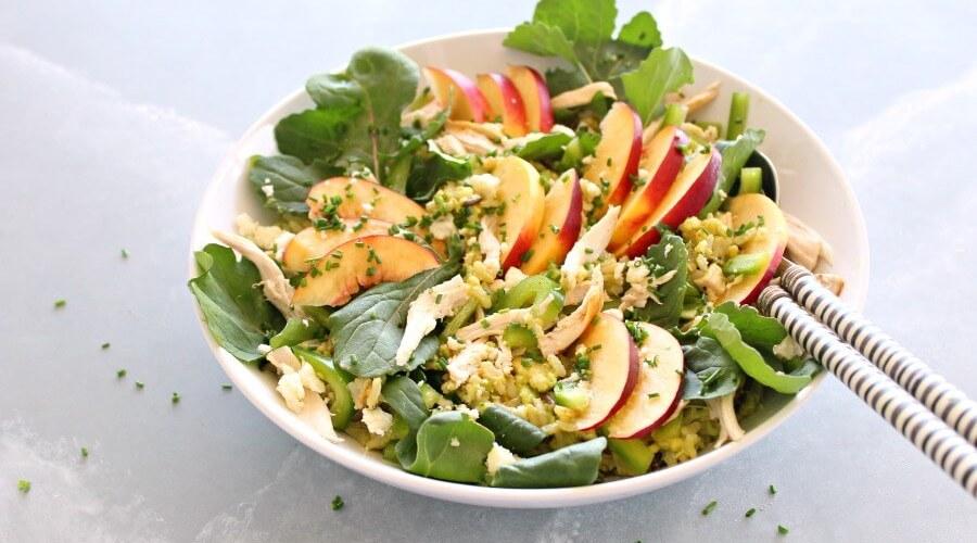 Avocado-Wild Rice Nectarine Chicken Salad