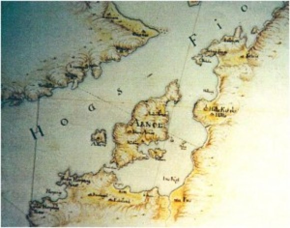 Kart over Bersagel fra 1707