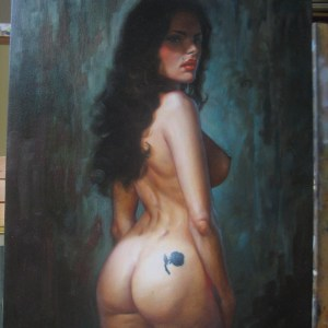 Greg Staples � Swallow Nude portrait Large art Comic Art