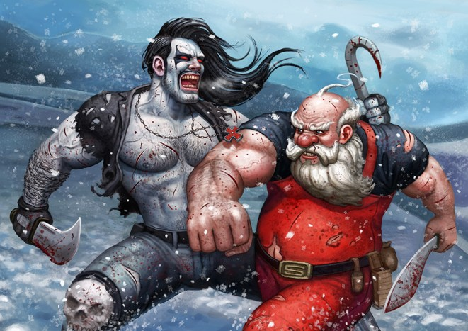 lobo vs santa by adam brown