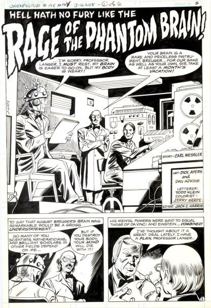 Dick Ayers Dan Adkins Unexpected 198pg1 1980