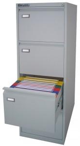 Classificatore in metallo Kubo Grigio 4 cass.