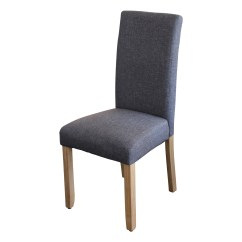 Gray Dining Chair Wrought Iron Chairs Outdoor India Ashton Upholstered In Dark Grey Fabric