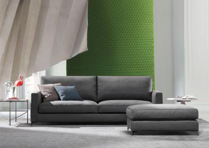 Pouf per divano su misura modello Jimmy  BertO Salotti