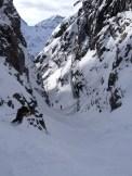 Un canyon, dément à skier