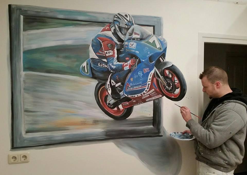 Portfolio Racemotor D Muurschildering