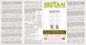 Etiket Veggie Protein Bloc – Tarwe