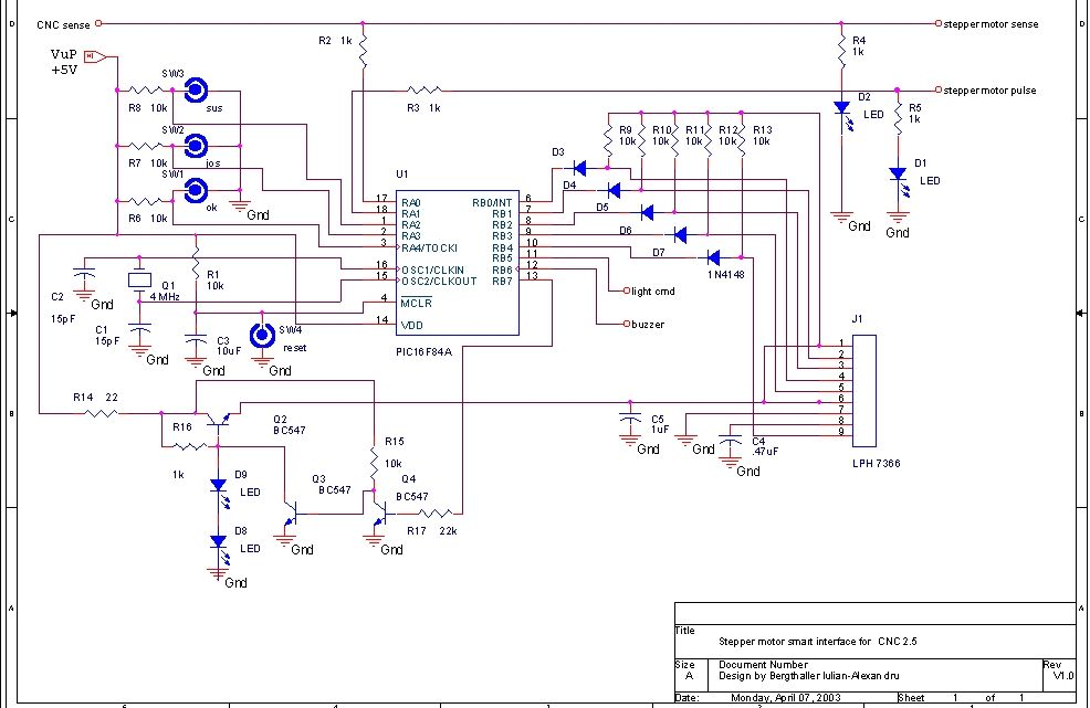 Stepper motor smart interface for CNC with microcontroller
