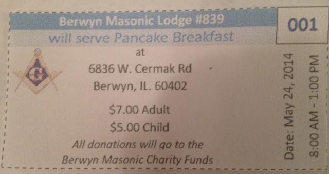 Pancake breakfast ticket