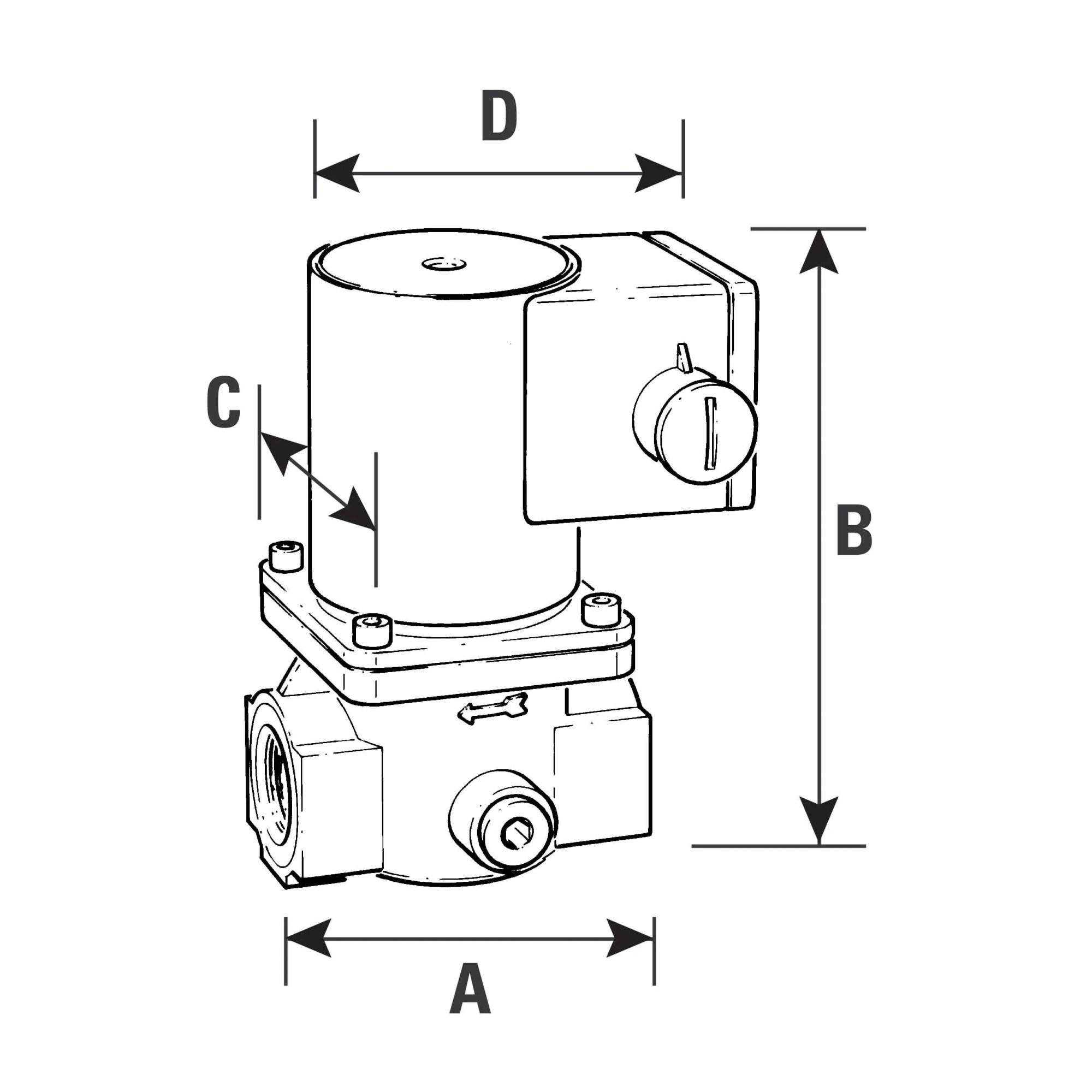hight resolution of solenoid gas safety shut off valve 2