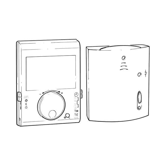Siemens RDJ100RF/SET Digital Room Thermostat/Receiver