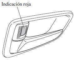 Mazda 2: Cerrar o abrir el seguro con la perilla de