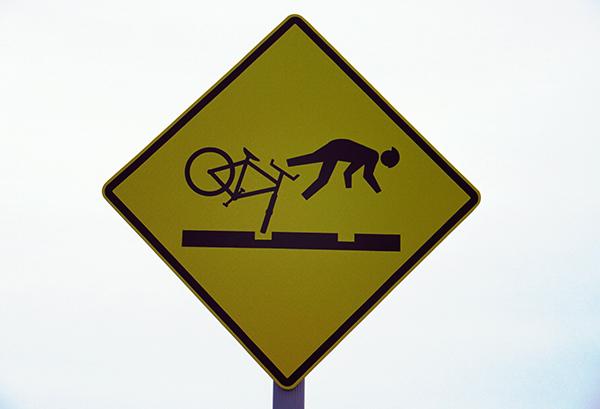 panneau chute à vélo - besoin d'aventure