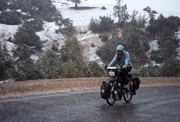 voyage à vélo - hiver