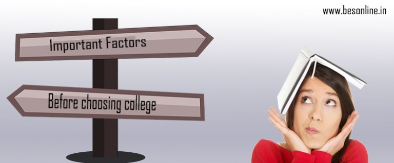 important factor before choose college