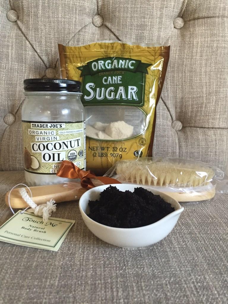 how to make coffee exfoliating scrub