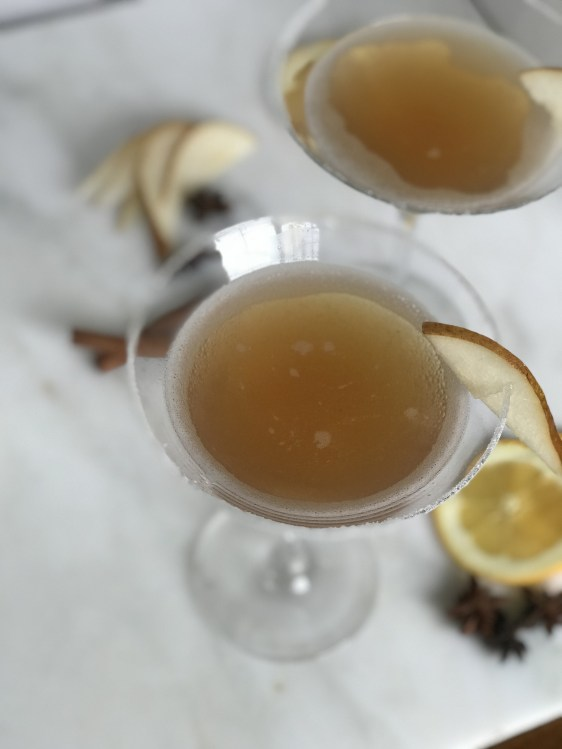 The Perfect Thanksgiving Cocktail | Spicy Pear Martini 8