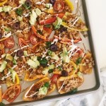 turkey nachos on bell peppers
