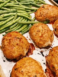 easy healthy turkey meatloaves