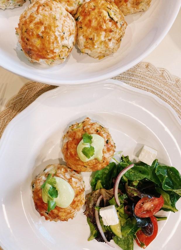 make russian style kotleti with avocado cilantro dressing