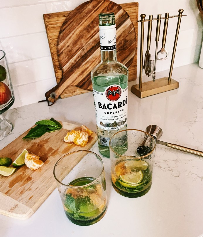bacardi rum for the best mojito recipe with fresh fruit
